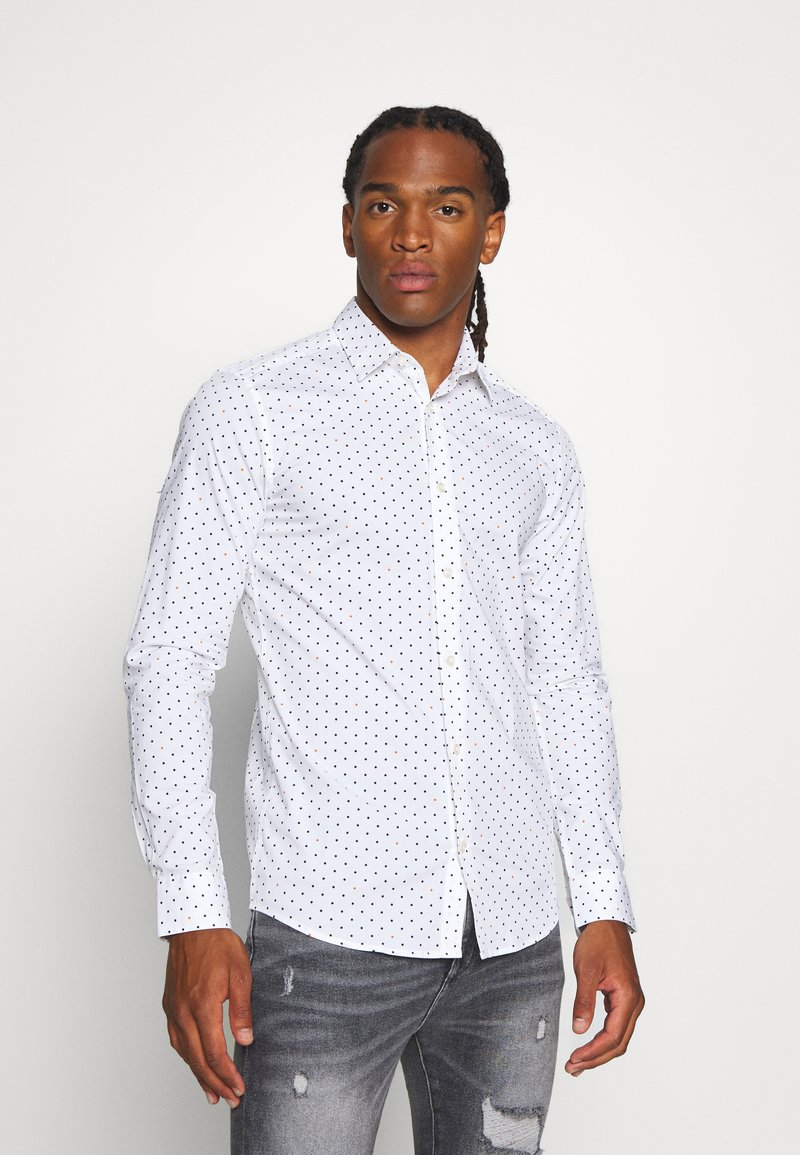 Only & Sons - ONSBART LIFE DOT - Shirt - white