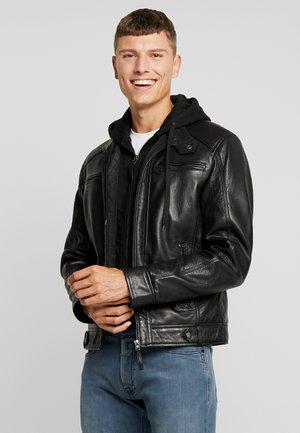 NILS  - Veste en cuir - black