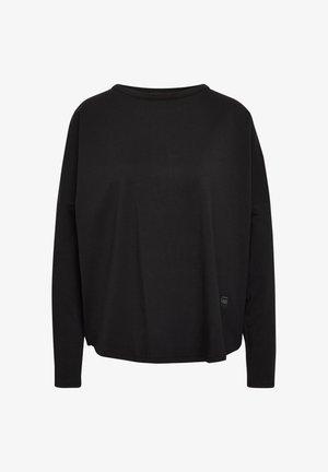 GSRAW GR LOOSE ROUND LONG SLEEVE - Long sleeved top - dk black
