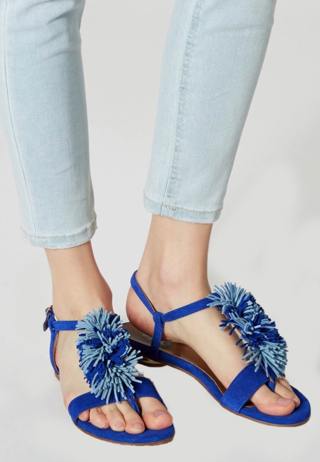 Sandaler m/ tåsplit - turquoise