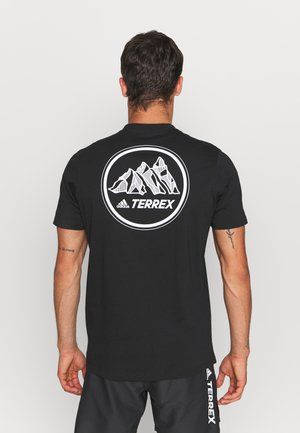 TERREX MOUNTAIN GRAPHIC TEE - Print T-shirt - black