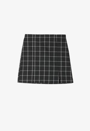 MIT ABTRENNUNG - A-line skirt - black