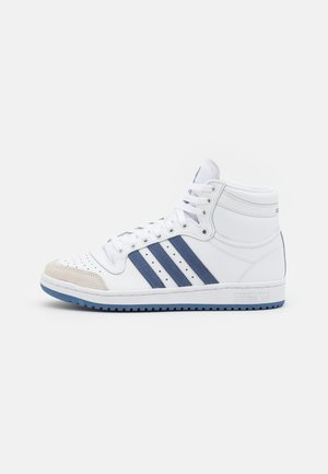 TOP TEN UNISEX - Korkeavartiset tennarit - footwear white/blue/crystal white