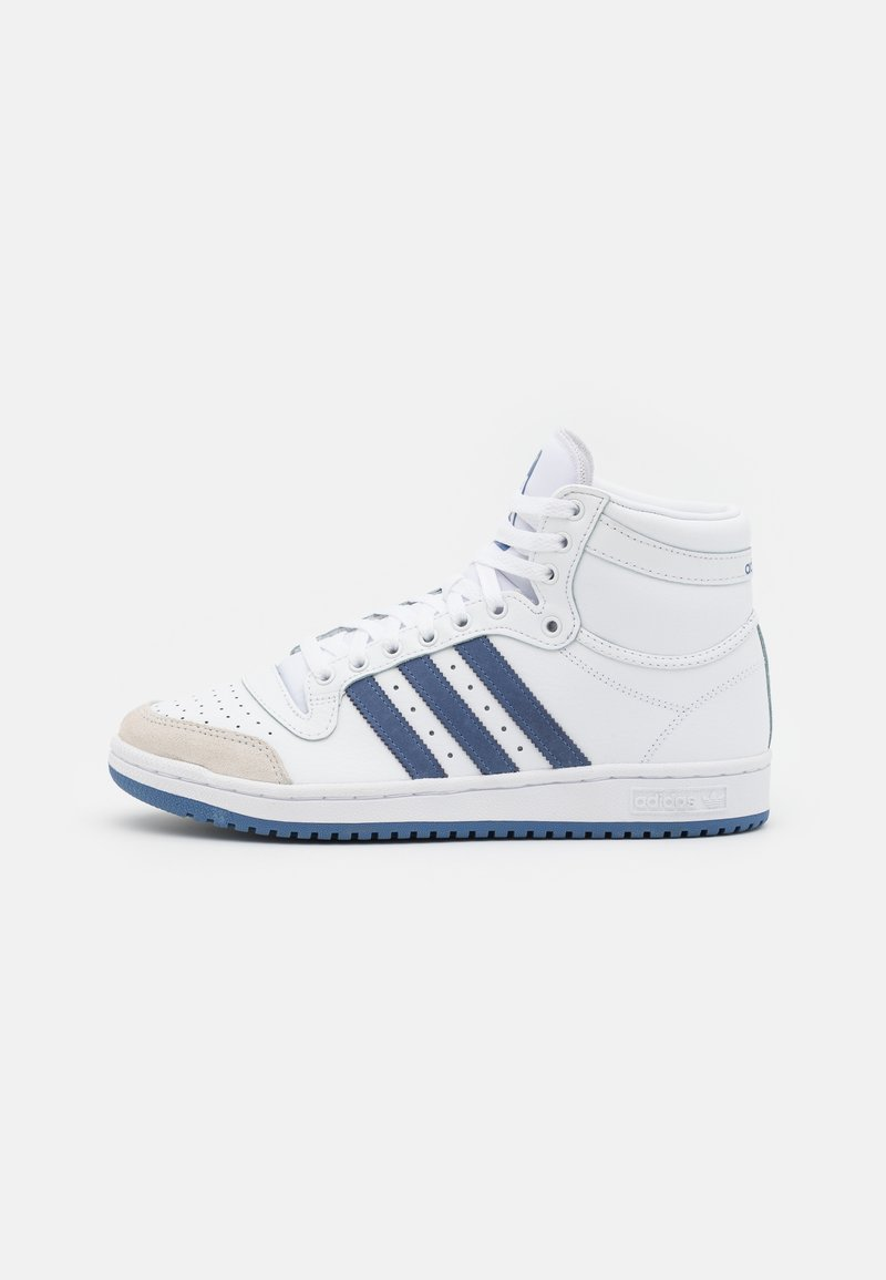 adidas Originals - TEN SHOES MID - Sneakers high - footwear white/blue/crystal white
