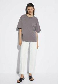 Massimo Dutti - Print T-shirt - dark blue - 1