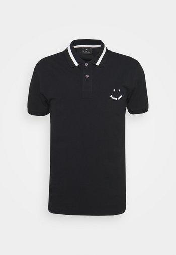 MENS SLIMFIT FACE - Polo shirt - black