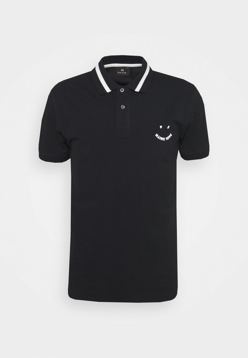 PS Paul Smith - MENS SLIMFIT FACE - Poloshirt - black