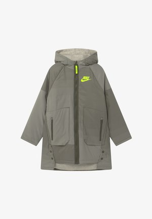 REVERSIBLE - Winter coat - cargo khaki/stone/volt
