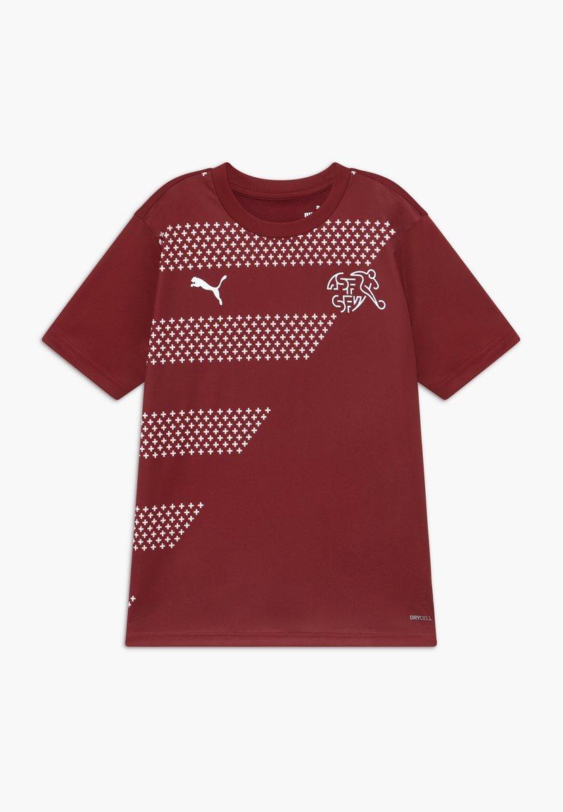 Puma - SCHWEIZ SFV STADIUM - National team wear - pomegranate