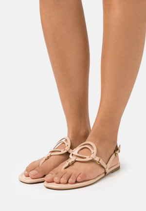 JERI - T-bar sandals - beechwood