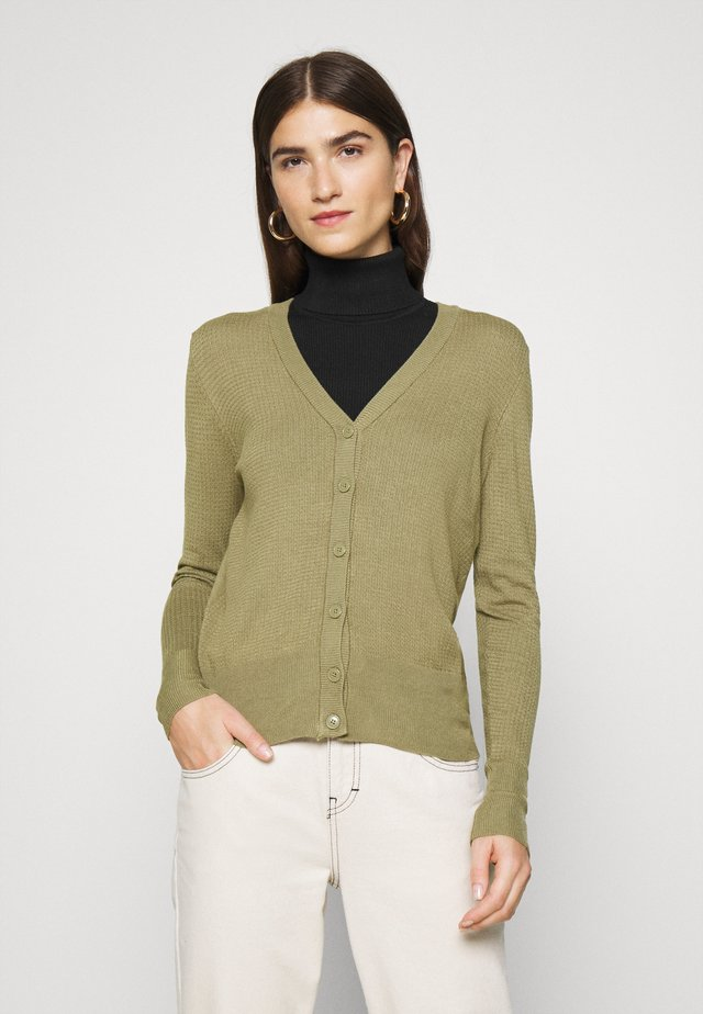 EDDIE CARDIGAN - Gilet - light khaki