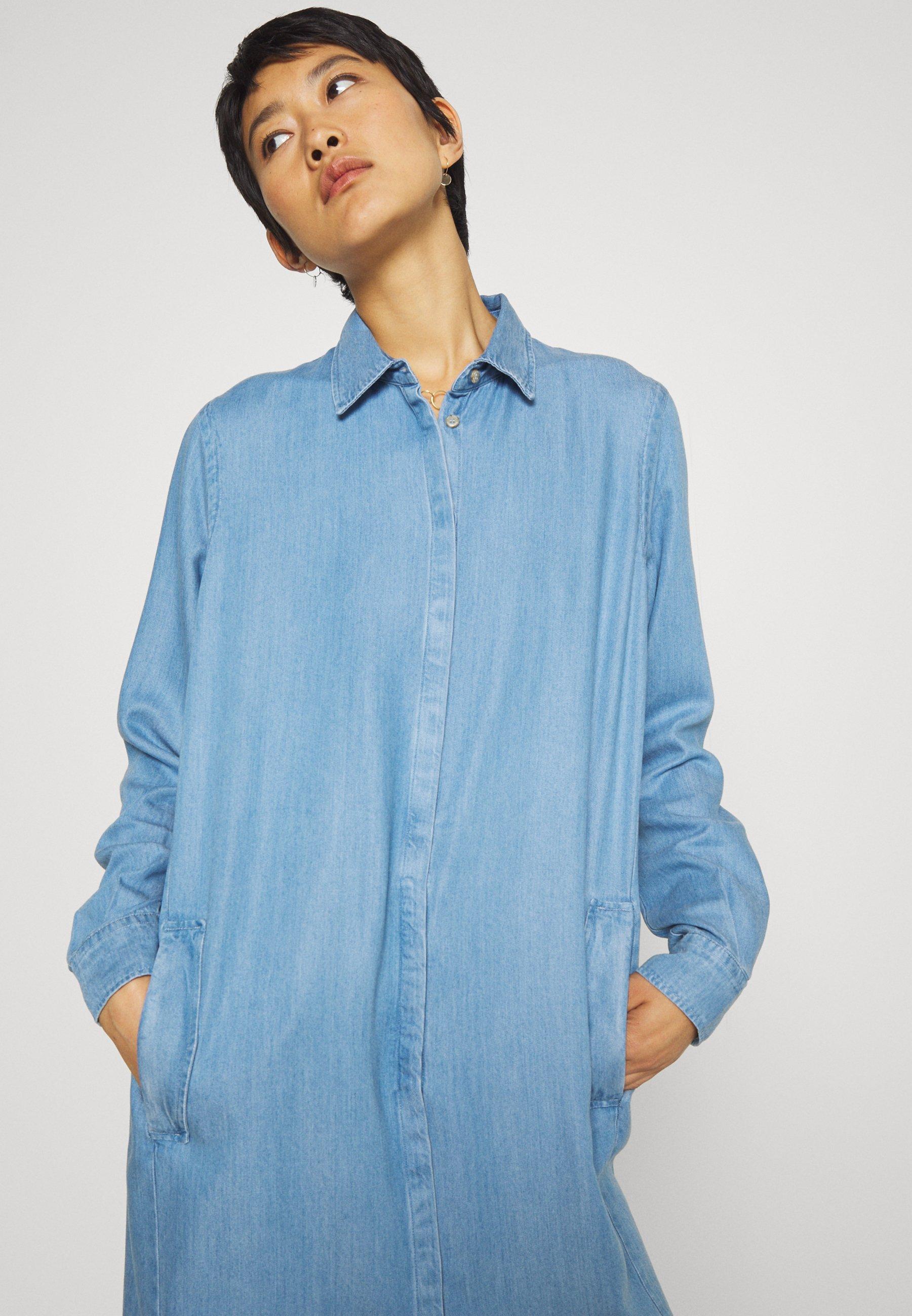 Mos Mosh ELLEN Blusenkleid light blue/hellblau