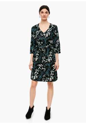MIT TUNNELZUGBUND - Day dress - black aop