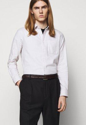 BELT UNISEX - Braided belt - brown