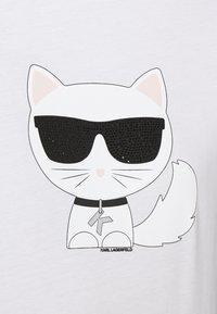 KARL LAGERFELD - IKONIK CHOUPETTE - Print T-shirt - white - 6