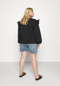 Cotton On Curve - HIGH WAISTED - Denim shorts - brunswick blue - 2