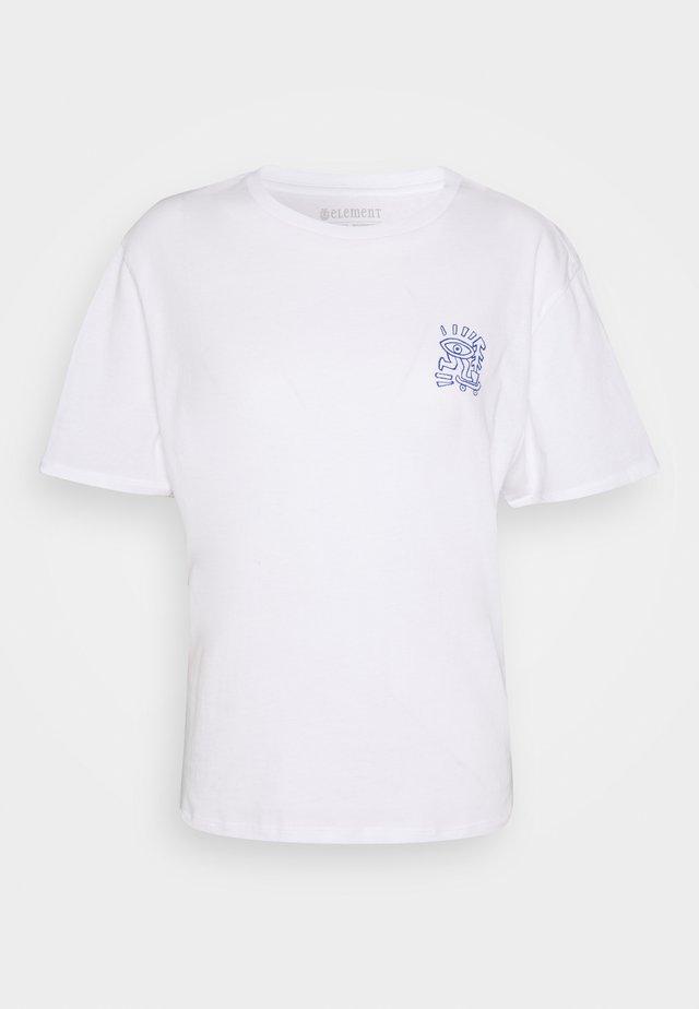 LARIMER - Print T-shirt - optic white