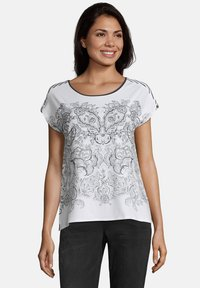 Betty & Co - Print T-shirt - weiß blau - 0