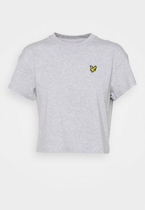 CROPPED  - T-shirt - bas - light grey marl