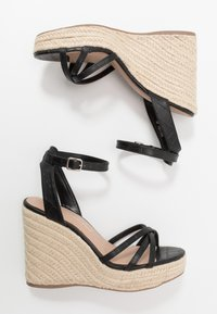 New Look - PEDGER - Sandalias de tacón - black - 3
