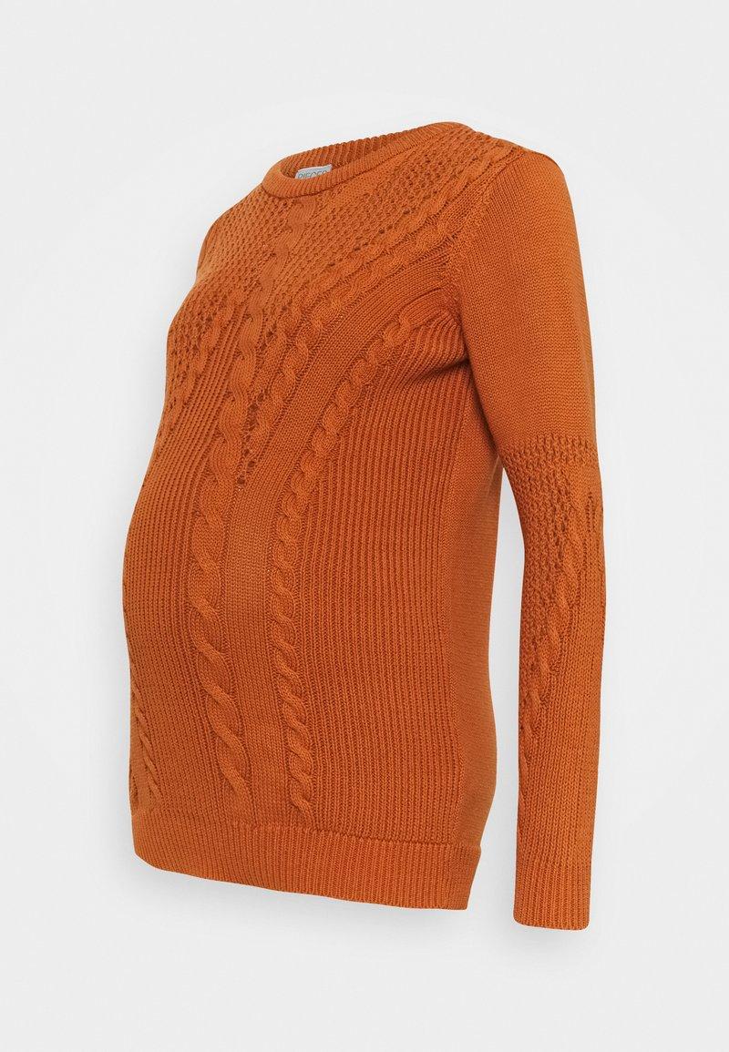 Pieces Maternity - PCMBELMA  - Jumper - sunburn