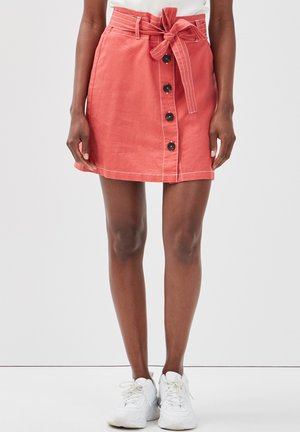 MIT GÜRTEL - A-line skirt - rose