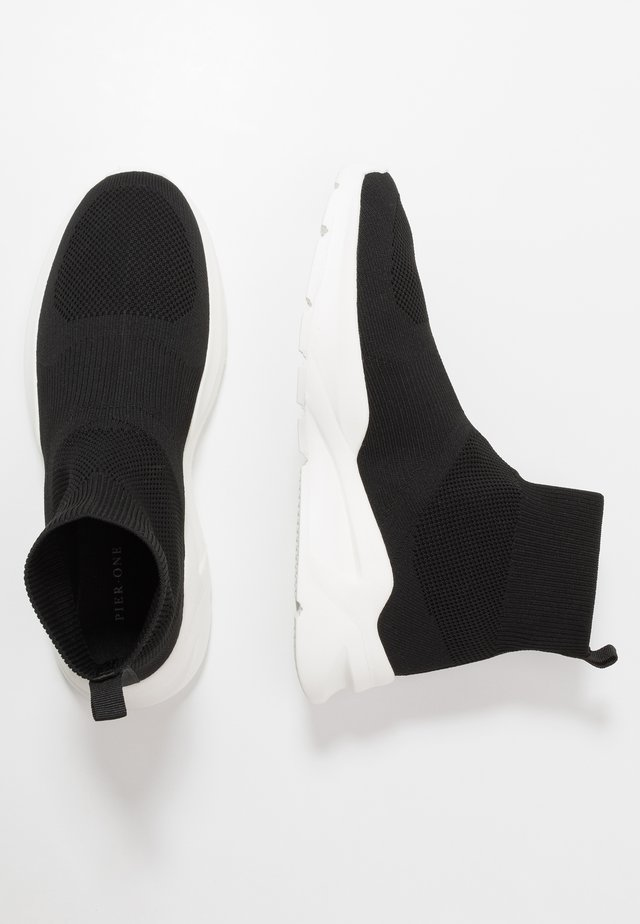 Høye joggesko - black/white