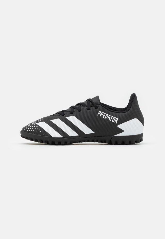 PREDATOR 20.4 FOOTBALL BOOTS TURF - Chaussures de foot multicrampons - core black/footwear white