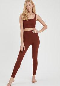 DeFacto - Leggings - Trousers - brown - 1