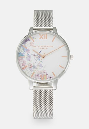 PAINTERLY PRINTS - Watch - silver-coloured/white