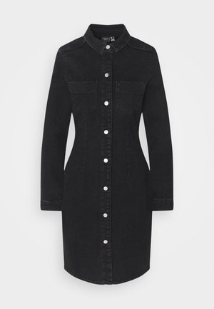VMGRACE SLIM BUTTON - Denim dress - black denim