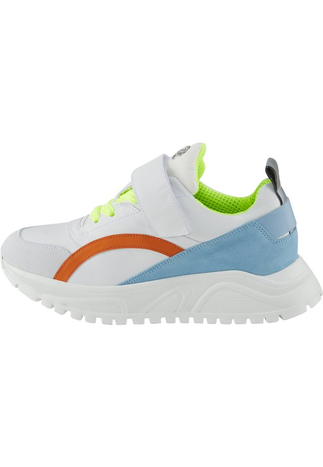 Trainers - white/blue/orange