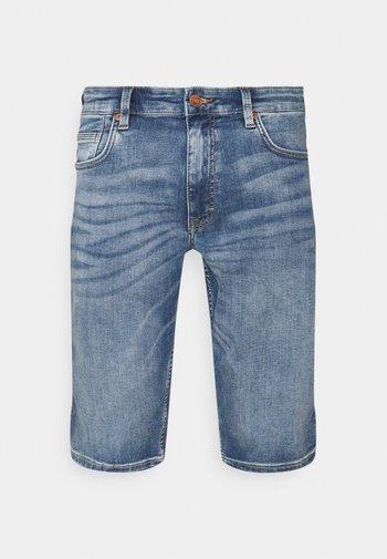 BERMUDA - Denim shorts - blue stret