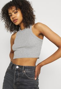 BDG Urban Outfitters - SUPER CROP RACER TANK - Top - grey marl - 3