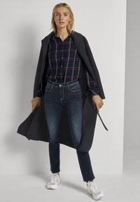 TOM TAILOR - Button-down blouse - navy grid check - 1