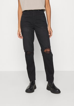 MOM JEANS - Jeans slim fit - faded black