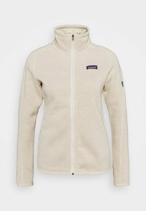 BETTER SWEATER - Fleece jacket - oyster white