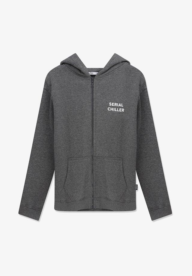 SERIAL CHILLER - Zip-up sweatshirt - dark grey