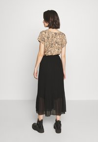 New Look - PLEATED - A-Linien-Rock - black - 2