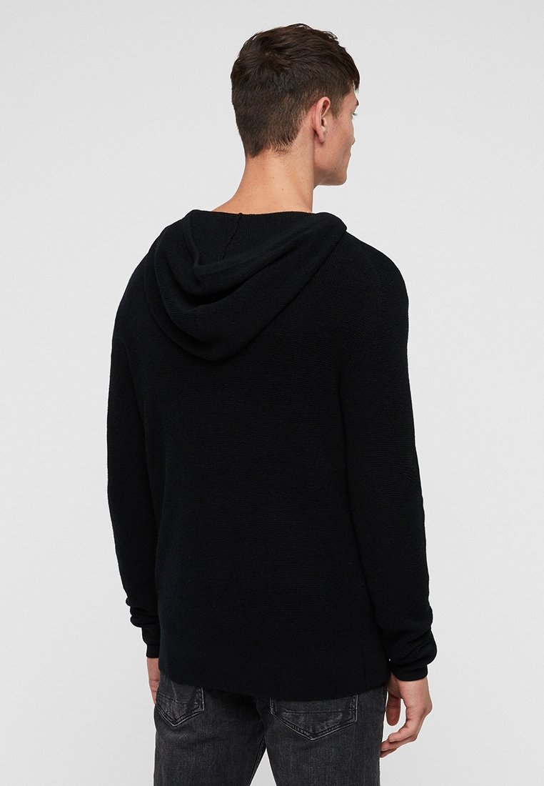 AllSaints IVAR MERINO - Strickpullover - black/schwarz XgZI1Y
