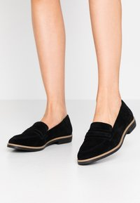 Anna Field - LEATHER LOAFER - Nazouvací boty - black - 0