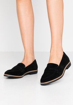 LEATHER LOAFER - Slip-ons - black