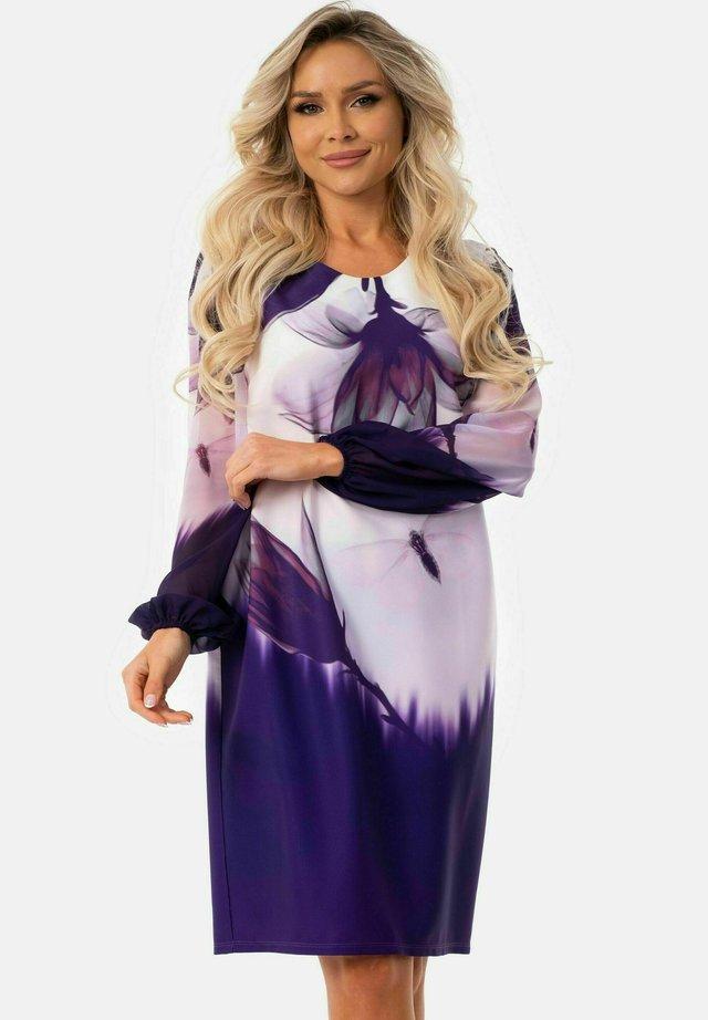 Etui-jurk - violett