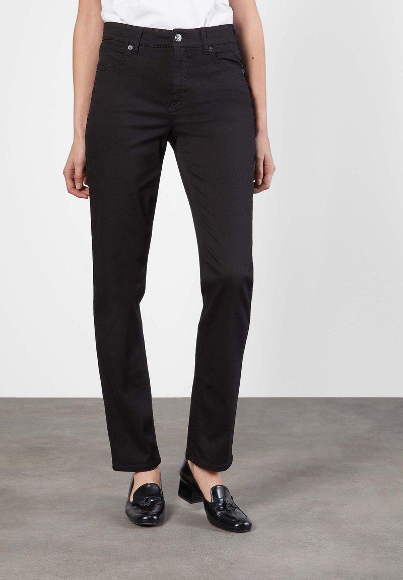 MAC Jeans - MELANIE - Straight leg jeans - schwarz
