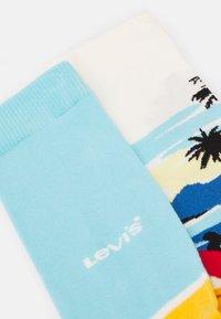 Levi's® - SURF SCENIC REGULAR CUT 2 PACK - Socks - blue/yellow - 1