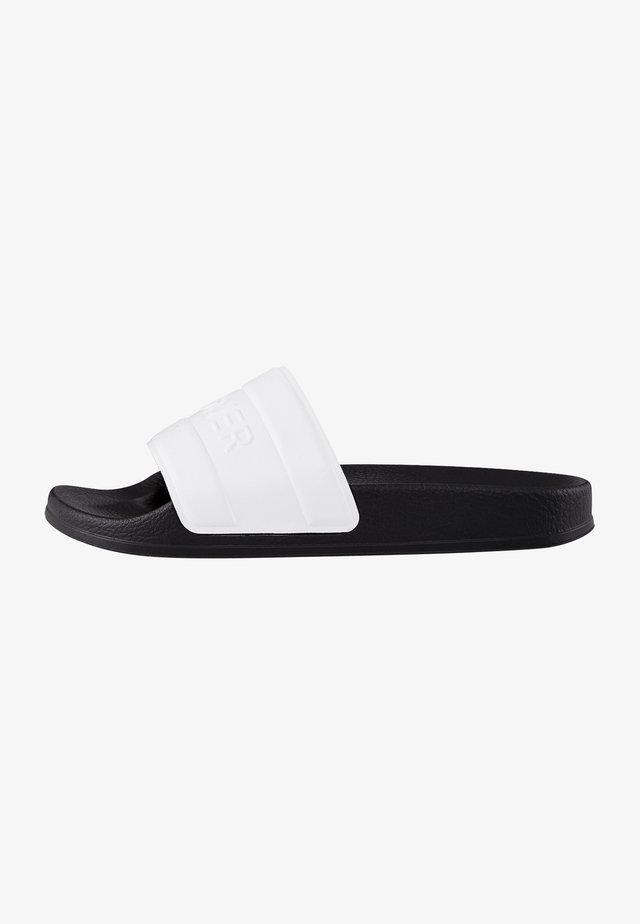 BELIZE - Sandały kąpielowe - weiß/schwarz