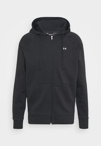 Under Armour - RIVAL  - Zip-up hoodie - black/onyx white - 4