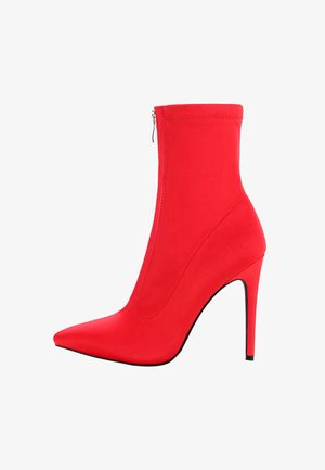 GIRELLO - High heeled ankle boots - red