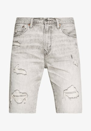 CRACKLE WASH - Farkkushortsit - light gray