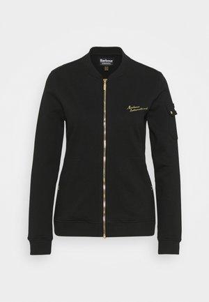 MINATO OVERLAYER - Zip-up hoodie - black